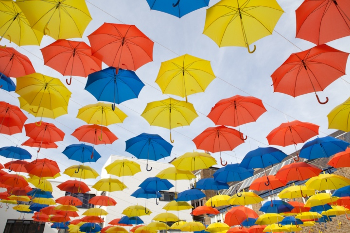 umbrella photo prompt from red writing hood